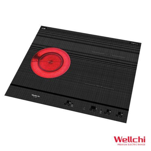 Bếp điện từ Wellchi KRD-HB250 Hàn Quốc 2 từ 1 hồng ngoại