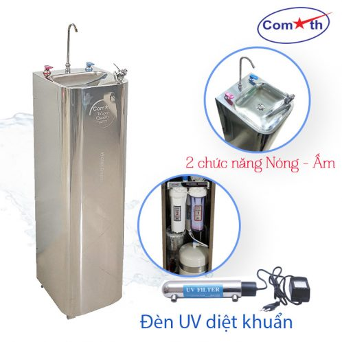 Máy lọc nước RO 2 vòi nóng ấm Comath CM-N126 UV diệt khuẩn