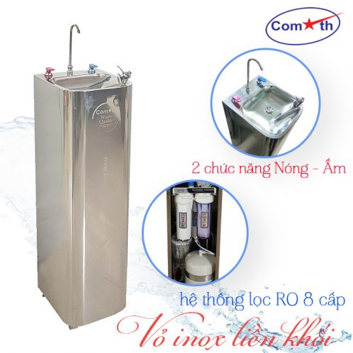 Máy lọc nước RO 2 vòi nóng ấm Comath CM-N126